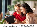 technology and people concept   ... | Shutterstock . vector #1222424038