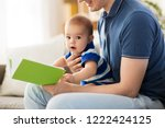 family  parenthood and people... | Shutterstock . vector #1222424125