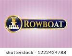 golden emblem or badge with... | Shutterstock .eps vector #1222424788