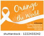 "white ribbon with ""orange the... 