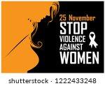 orange silhouette in woman...   Shutterstock .eps vector #1222433248