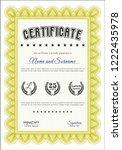 yellow certificate of... | Shutterstock .eps vector #1222435978