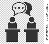 politic debate icon in flat... | Shutterstock .eps vector #1222438012