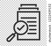 scrutiny document plan icon in... | Shutterstock .eps vector #1222439152