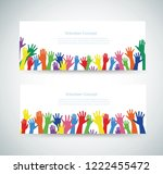 volunteer concept  free hands... | Shutterstock .eps vector #1222455472