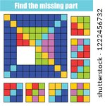 puzzle for toddlers. find the... | Shutterstock .eps vector #1222456732