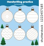 baubles tracing lines for... | Shutterstock .eps vector #1222457185
