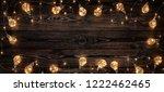 empty  dark wooden background... | Shutterstock . vector #1222462465