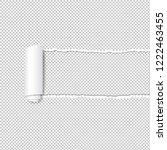 torn paper edge transparent... | Shutterstock . vector #1222463455