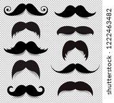 mustache big set transparent... | Shutterstock . vector #1222463482
