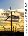 wind turbines in a wind power... | Shutterstock . vector #1222471765