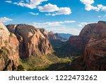 amazing landscape in zion... | Shutterstock . vector #1222473262