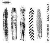 tire track texture set isolated ... | Shutterstock .eps vector #1222473325