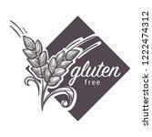 gluten free logo  monochrome... | Shutterstock .eps vector #1222474312