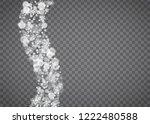 snowflake border for christmas... | Shutterstock .eps vector #1222480588