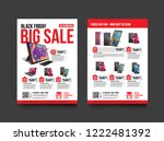 2 sides flyer template for... | Shutterstock .eps vector #1222481392