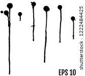 black ink paint spots. drops... | Shutterstock .eps vector #1222484425