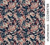 paisley vector seamless pattern....   Shutterstock .eps vector #1222484788