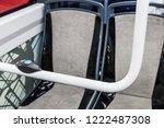 stop button modern and... | Shutterstock . vector #1222487308