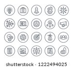 startup line icons set  product ... | Shutterstock .eps vector #1222494025