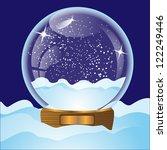 illustration of glass christmas ... | Shutterstock .eps vector #122249446