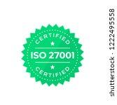 iso 27001 badge  vector | Shutterstock .eps vector #1222495558