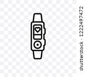 activity tracker vector linear... | Shutterstock .eps vector #1222497472