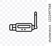 usb wireless adapter vector... | Shutterstock .eps vector #1222497568