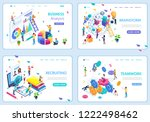 set of web page design... | Shutterstock .eps vector #1222498462