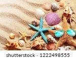 beach. summer. starfish in... | Shutterstock . vector #1222498555