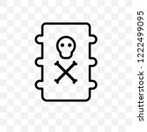 toxic waste vector linear icon... | Shutterstock .eps vector #1222499095