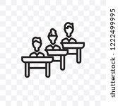 classroom vector linear icon... | Shutterstock .eps vector #1222499995
