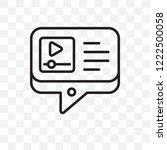 tutorial vector linear icon...   Shutterstock .eps vector #1222500058