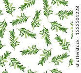 seamless pattern with green... | Shutterstock . vector #1222501228