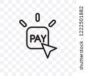 pay per click vector linear... | Shutterstock .eps vector #1222501882