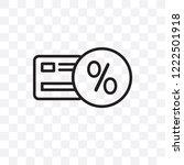 loyalty card vector linear icon ... | Shutterstock .eps vector #1222501918