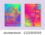 vibrant cover templates with... | Shutterstock .eps vector #1222505245