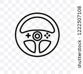 steering wheel vector linear...   Shutterstock .eps vector #1222507108