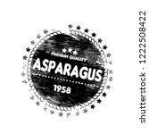 asparagus premium quality... | Shutterstock .eps vector #1222508422
