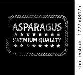 asparagus premium quality... | Shutterstock .eps vector #1222508425