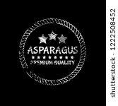 asparagus premium quality... | Shutterstock .eps vector #1222508452
