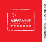 asparagus premium quality... | Shutterstock .eps vector #1222508455