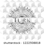 turk retro style grey emblem... | Shutterstock .eps vector #1222508818