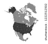 map of north america | Shutterstock .eps vector #1222512502