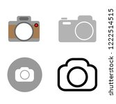 set of camera icon vector icon...
