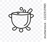 cauldron vector linear icon... | Shutterstock .eps vector #1222515985