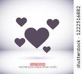 hearts icon vector | Shutterstock .eps vector #1222516882