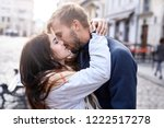 portrait of a young romantic... | Shutterstock . vector #1222517278