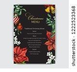 invitation card for a dinner on ... | Shutterstock .eps vector #1222523368