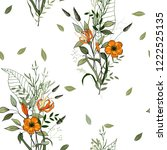 trendy floral pattern. isolated ... | Shutterstock .eps vector #1222525135